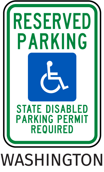 Washington Accessible Parking Sign