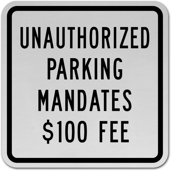 North Dakota Accessible Parking Penalty Sign