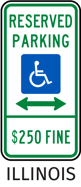 Illinois Accessible Parking Sign