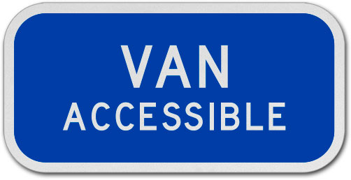 MUTCD Van Accessible Sign