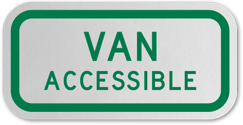 Federal Van Accessible Sign
