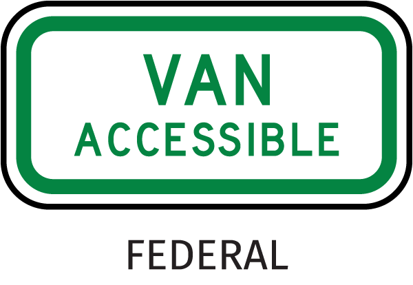 MUTCD Van Accessible Sign