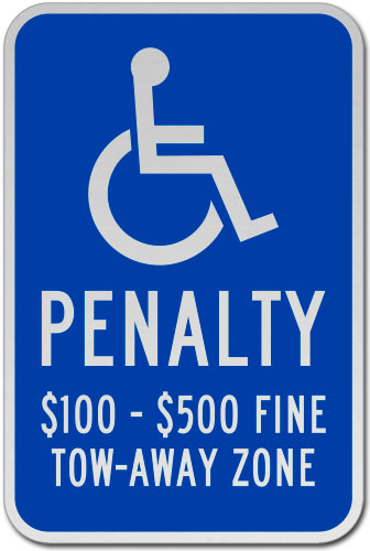 Virginia Accessible Tow Away Zone Penalty Sign