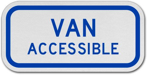 Virginia Van Accessible Sign