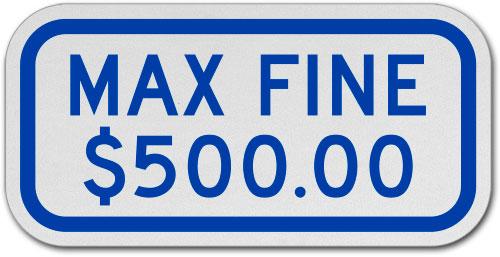 Virginia Fine $500 Max Sign