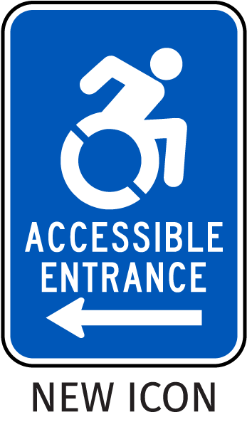 New York Accessible Parking Sign-with NEW ISA Universal Access symbol