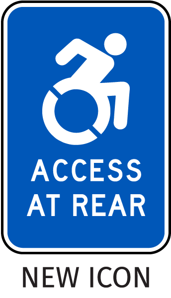 New York Access at Rear Parking Sign-with NEW ISA Universal Access symbol