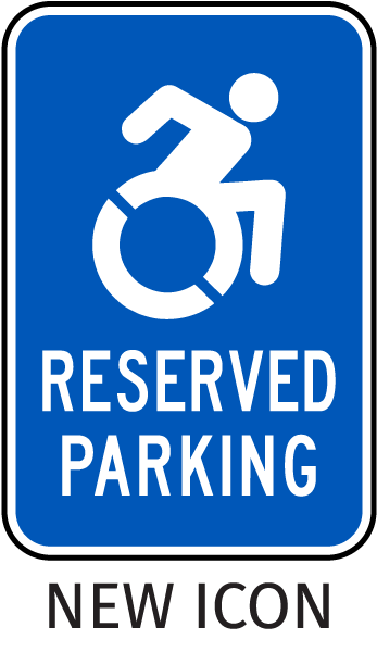 New York Accessible Reserved Parking Sign-with NEW ISA Universal Access symbol