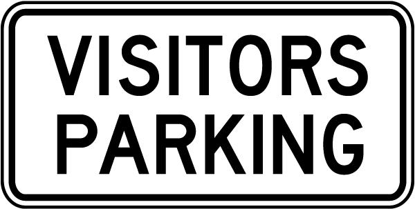 Visitors Parking Sign