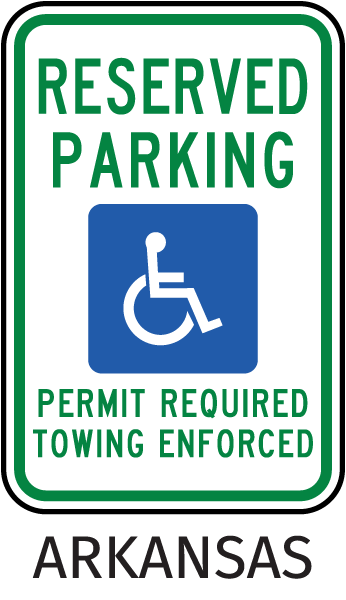 Arkansas Accessible Parking Sign