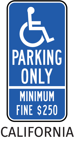 California Accessible Parking Sign