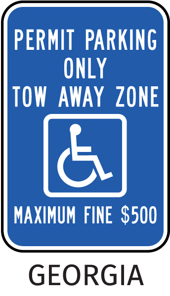 Permit Parking Only Tow Away Zone Maximum Fine $500 Sign
