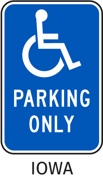 Iowa Accessible Parking Sign