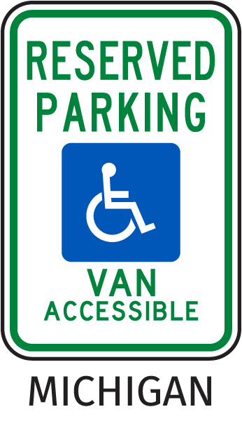 Reserved Parking Van Accessible Sign