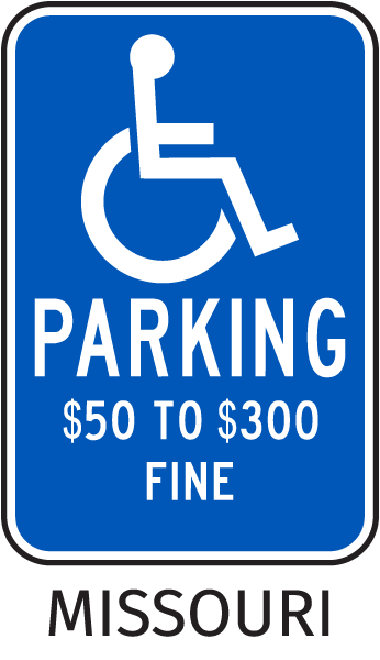 Missouri Accessible Parking Sign