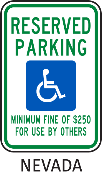 Nevada Accessible Parking Sign