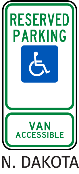 Reserved Parking - Van Accessible Sign