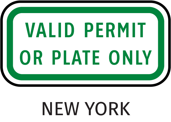 Handicapped Parking Sign-Valid Permit or Plate Only