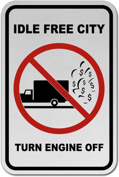 Idle Free City Turn Off Engine Sign
