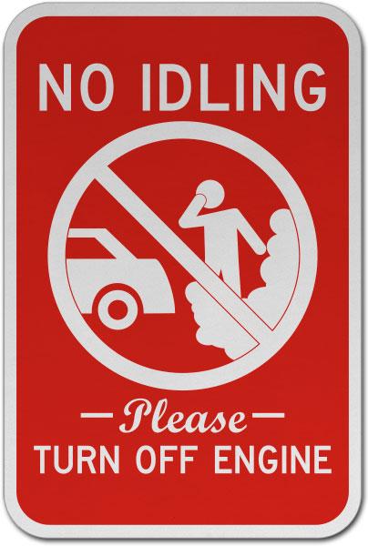 No Idling Turn Off Engine Sign