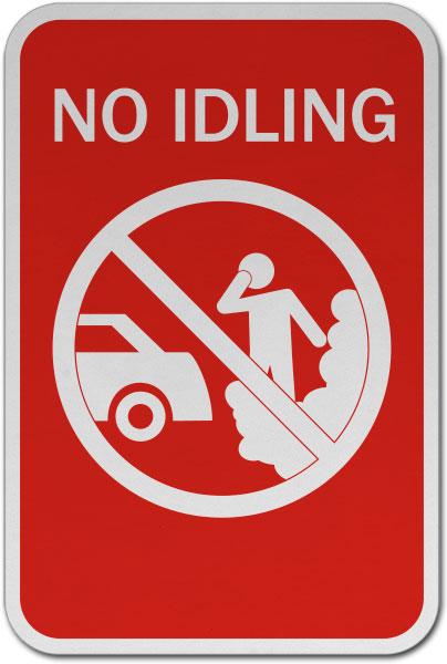 No Idling Sign