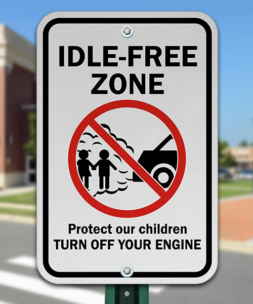 Idle Free Zone Sign