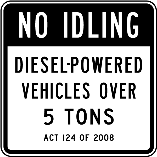 No Idling Diesel Vehicles Sign