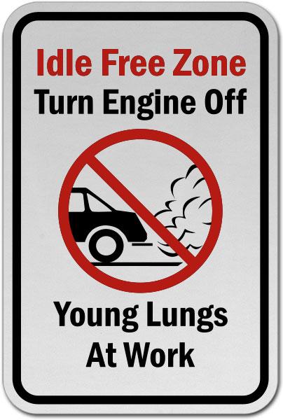 Idle Free Zone Turn Off Engine Sign