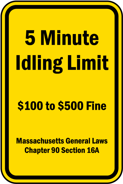5 Minute Idling Limit Sign