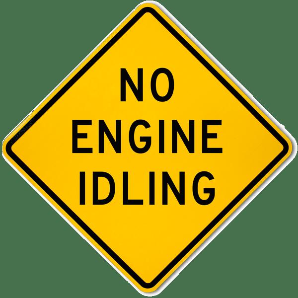 No Engine Idling Sign