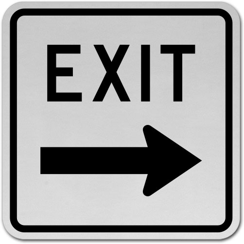 Exit (Right Arrow) Sign