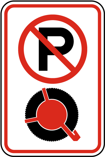 No Parking Violators Booted Sign