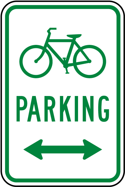 Bicycle Parking (Double Arrow) Sign