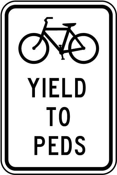 Yield To Peds Sign