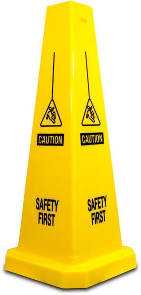 Caution Safety First Floor Cone