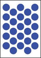 "3/4"" Diameter Vinyl Stick-on Blue Circles"