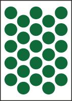 "3/4"" Diameter Vinyl Stick-on Green Circles"