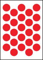 "3/4"" Diameter Vinyl Stick-on Red Circles"