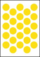 "3/4"" Diameter Vinyl Stick-on Yellow Circles"