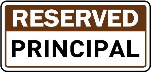 Reserved Principal Sign