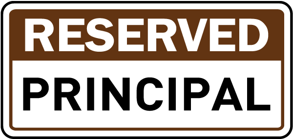 Reserved Principal Sign