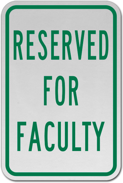 Reserved For Faculty Sign