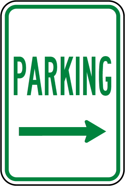 Parking (Right Arrow) Sign