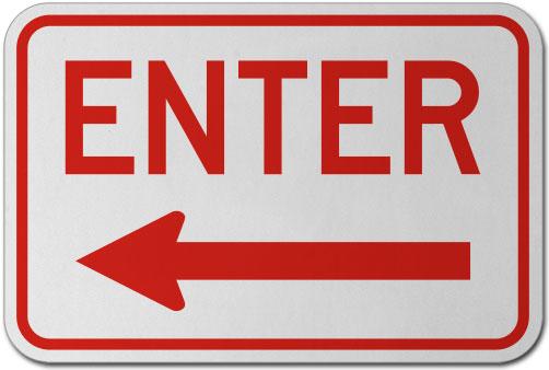 Enter (Left Arrow) Sign