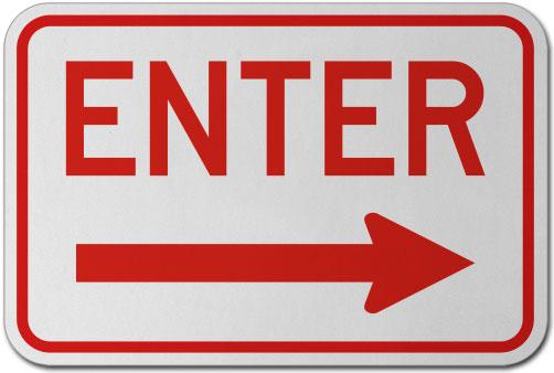 Enter (Right Arrow) Sign