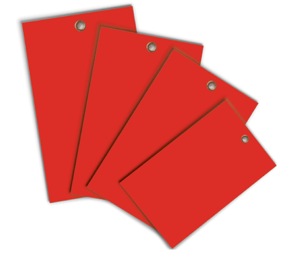 Red Write-On Vinyl Tag