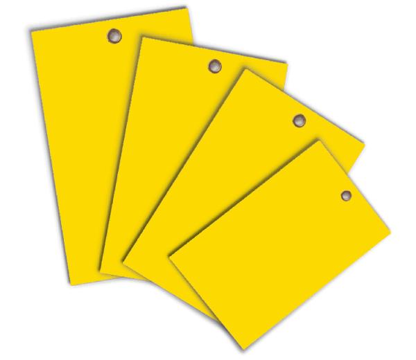 Yellow Write-On Vinyl Tag