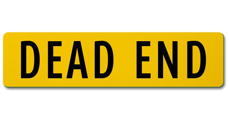 Flat Blade Dead End Street Name Sign