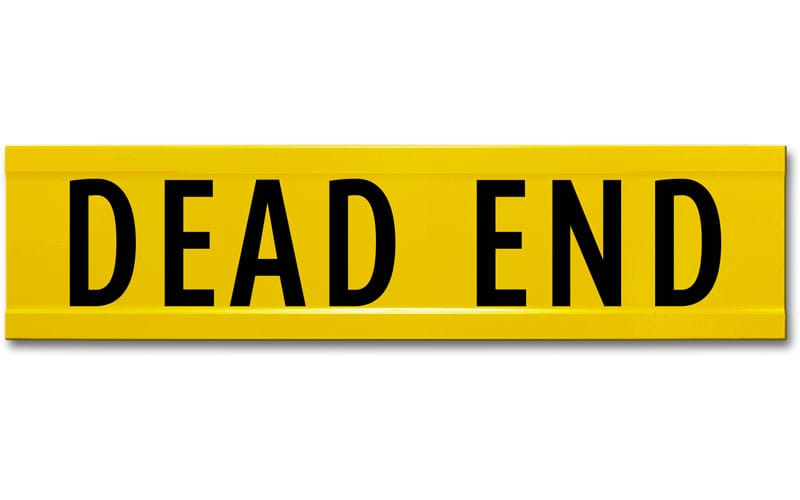 Extruded Dead End Street Name Sign