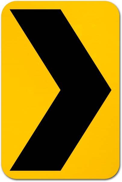 Chevron Alignment Sign